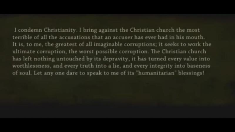Фридрих Ницше о христианстве