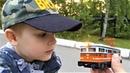 Поезда для детей Железная дорога и пассажирский поезд Видео для детей