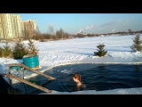 НЕВСКИЕ МОРЖИ осваивают прорубь в Купчино (31.01.2018, Санкт-Петербург)
