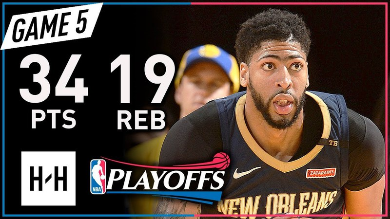 Anthony Davis Full Game 5 Highlights vs Warriors 2018 Playoffs WCSF - 34 Pts, 19 Reb