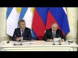 Президент России Владимир Путин и глава Аргентины Маурисио Макри подвели итоги переговоров в Москве.