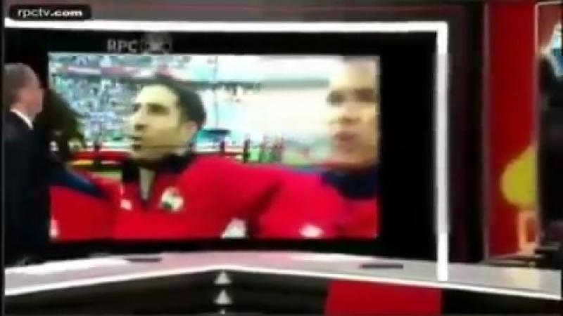 Reação de comentaristas do Panamá após ouvirem o hino de seu país cantado pela primeira vez em uma copa do mundo