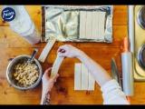 Воздушные конвертики с яблоком и розмарином в карамели