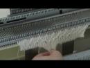 Вязание прессового узора по перфокарте на вязальной машине Silver Reed