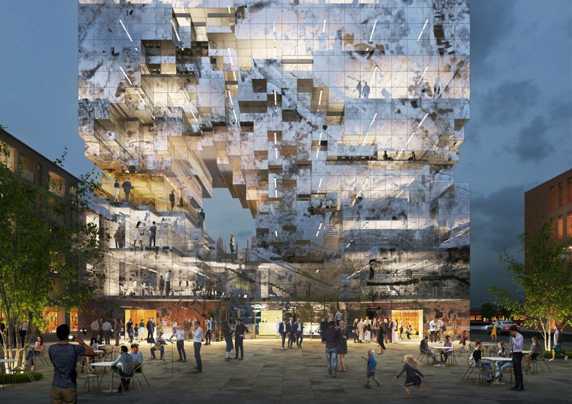 MVRDV plans office building in South Germany with reflective fragmented façade