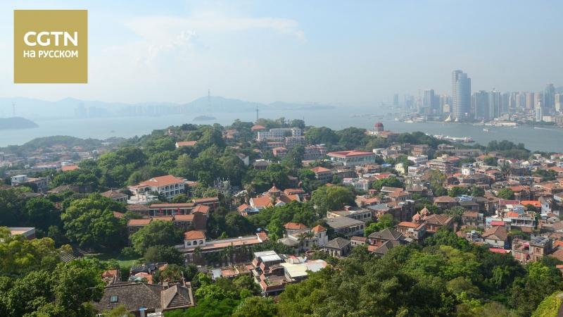 Старинный китайский город на берегу Тайваньского пролива