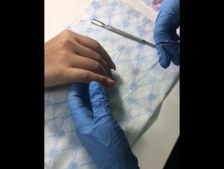 Маникюр ножничками
