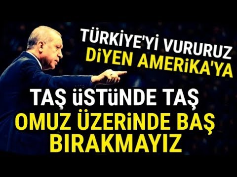 Erdoğan'dan AMERİKA'ya Tarihi Cevap; (OSMANLI TOKADINI..)