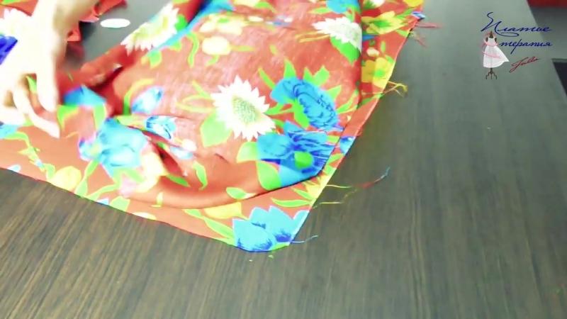 Как сшить платье-халат без выкройки Классическое платье на запах