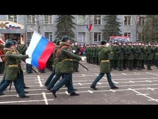Вынос знамени полка после присяги