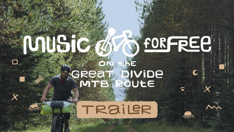 Music for Free on the Great Divide Mountain Bike Route Trailer