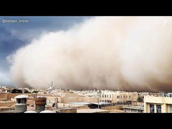 Песчаная буря в городе Йезд, Иран | Dust storm in Yazd, Iran, 16.04.2018