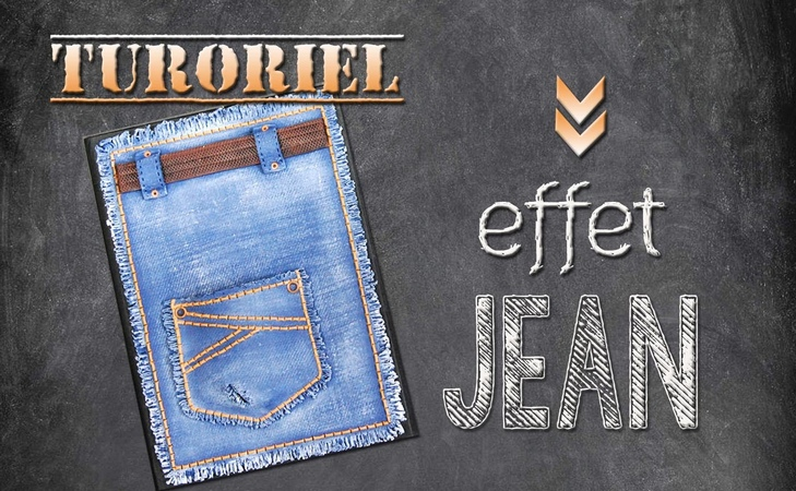 Tuto fimo/polymère carnet effet jean