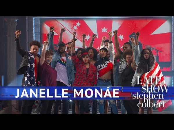 Janelle Monáe - Americans (The Late Show with Stephen Colbert)