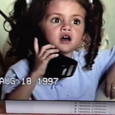 """Selena Gomez on Instagram: """"Omg look how cute she is, her voice I'm melting 😩❤️"""""""