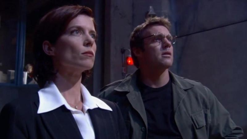 Звездные врата: Первый отряд  1-2 серия 8 сезона  Элизабет Вейр 8 сцена