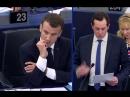 Les aventures de Macron au Parlement européen 3eme effet KissCool