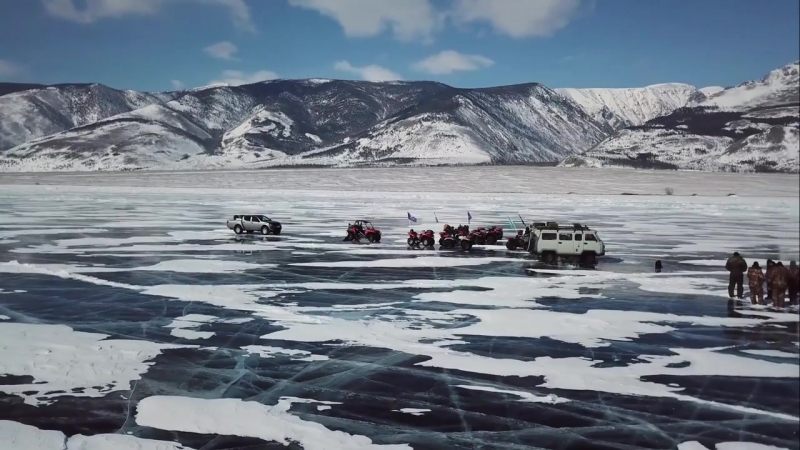 Лёд Байкала 2018. Кальян у мыса Рытый