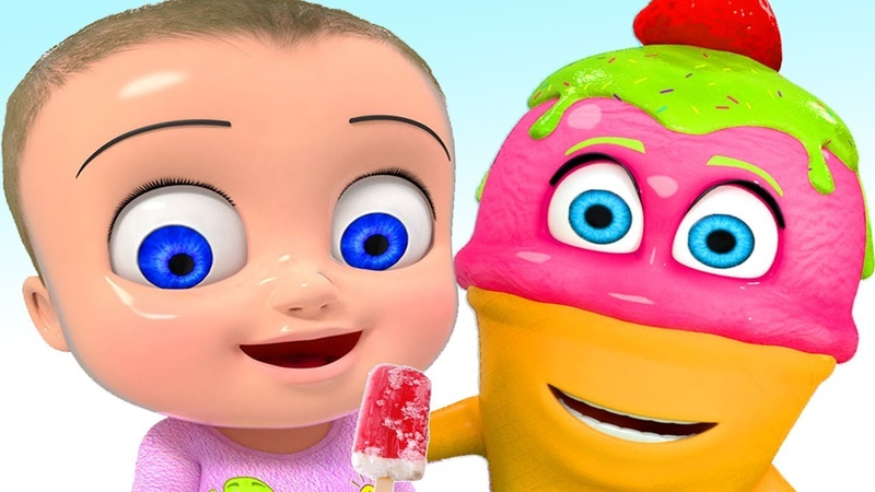Ice Cream Song for Kids | Sing and Dance! | 3D Animation Rhymes Songs for Children