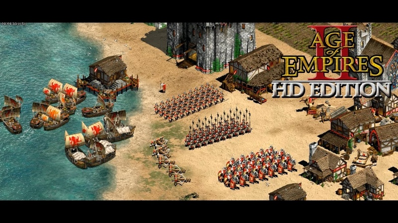 Age of Empires II HD The Forgotten(RU) Мультиплеер - British, Spanish VS Persians, Saracens, Indian
