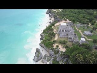 Tulum, México en 4K. Playas y ruinas mayas. Vista aérea con drone Mavic. SIN EDICIÓN..mp4