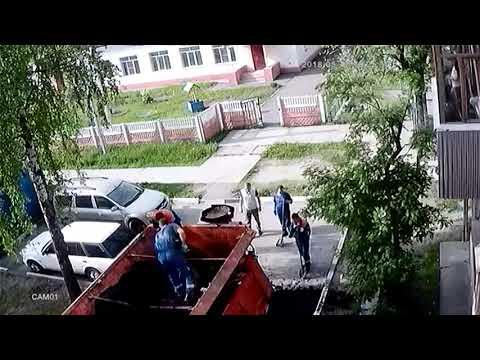 Шатура, кладут асфальт, полная версия, Подмосковье,17,05,2018