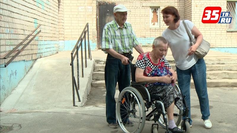 Управляющая компания от чистого сердца установила пандус для череповчанки с инвалидностью