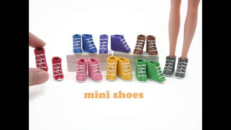 DIY Miniature Doll Mini Shoes Sneakers Boots Easy
