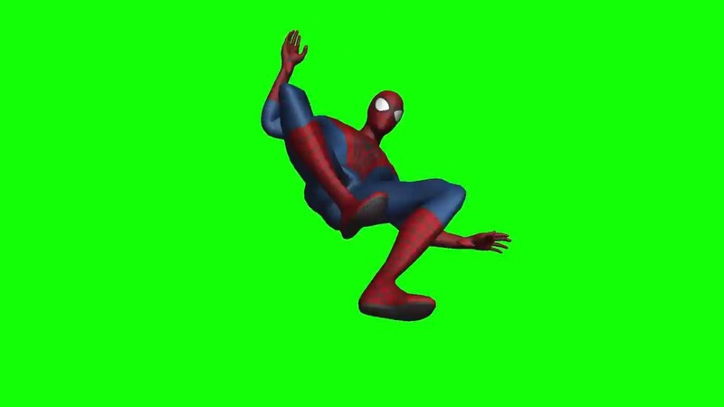 Spider-man Green Screen | Футаж Человек-Паук на зеленом фоне (Хромакей)