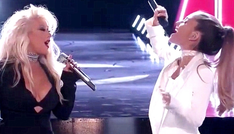 Ariana Grande With Christina Aguilera - Into You / Dangerous Woman - The Voice 2016 Finale