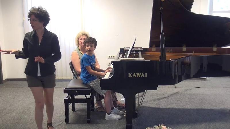 06.07.2018 Mira Marchenko's master-classes. Guido Ciarfuglia. Concert Hall, Trogir, Croatia