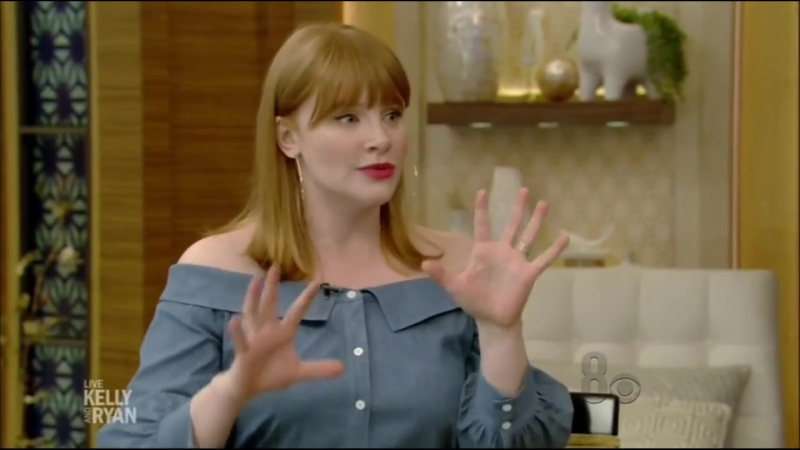 Bryce Dallas Howard on Live With Kelly Ryan 06_15_18