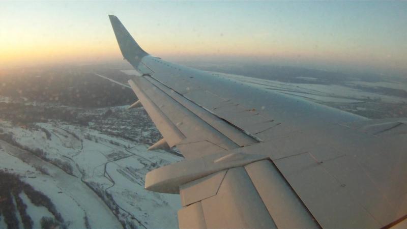 Boeing 737-500 UTair UWWW Landing