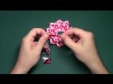 МК - Фантазийный цветок канзаши. Резинки для волос _ DIY fantasy flower