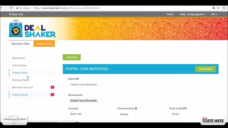 Dealshaker Tutorial [Español - Spanish] Registra tu negocio