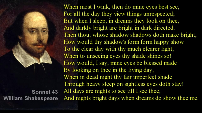 Sonnet 43 _ William Shakespeare _ with text