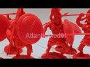 Солдатики 1/32 CONTE 300 Спартанцев Set 7 красный цвет
