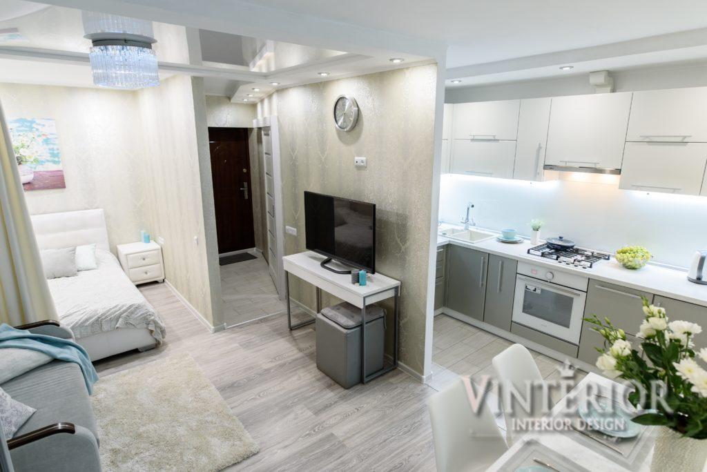 Интерьер квартиры-студии 30 м в Киеве.