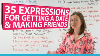Learn 35 English phrases for making friends & asking someone out on a date 💃🕺💕💋