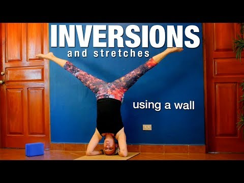 Inversions Stretches with a Wall Yoga Class - Five Parks Yoga