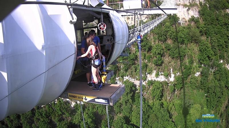 Скайпарк Сочи 207 м - 2ой прыжок спиной вперед