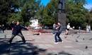 Street Fight Fight on pigeons\Уличная драка Бой на голубях