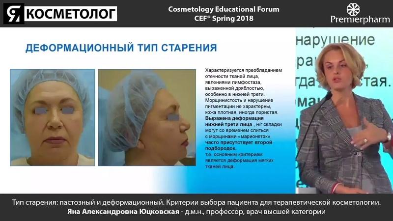 Тип старения пастозный и деформационный Критерии выбора пациента для терапевтической косметологии