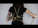 How to tie a pentagram rope harness on yourself - Shibari Demo.mp4