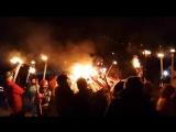 Железногорск-2018. Факельное шествие на горнолыжке