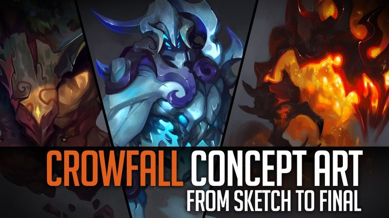 Concept Art - From Sketch to Final - Crowfall