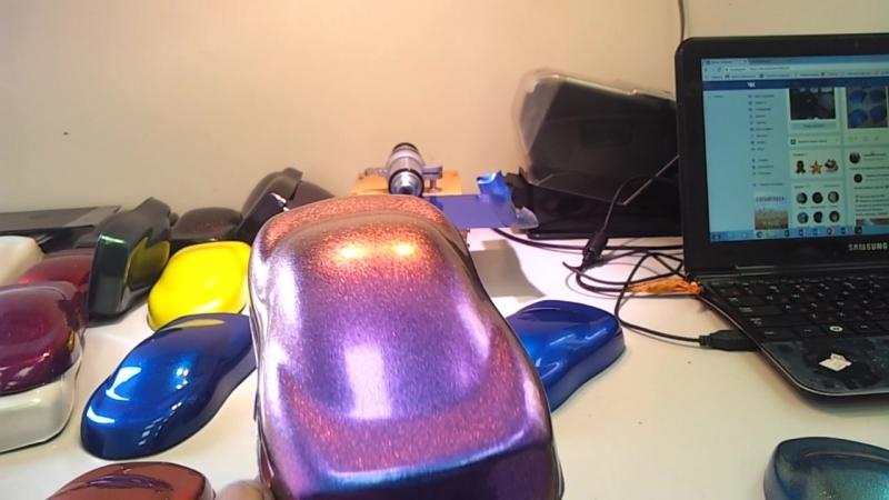 Хамелеон синий в фиолетовый желтый