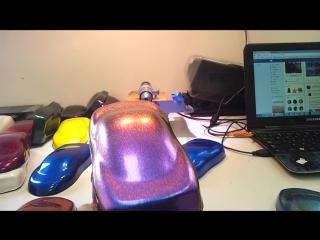 Хамелеон синий в фиолетовый + желтый