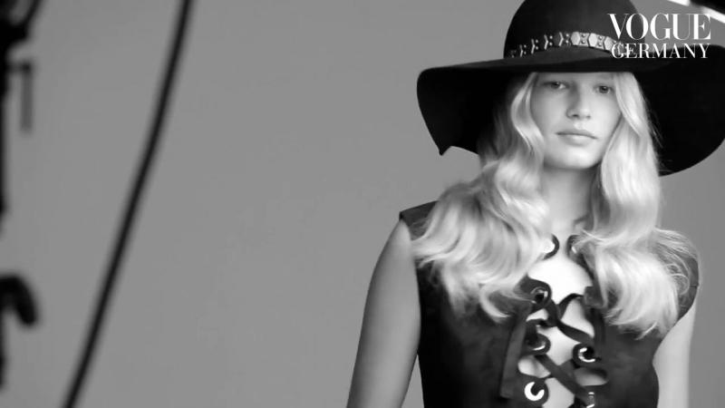 Patrick Demarchelier fotografiert Anna Ewers Cover Shoot bts fashion VOGUE Behind the Scenes