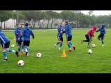 Тренировка женской сборной России в Португалии